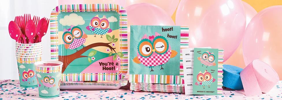 Where to find the best prices for Owl Themed Party Packages and lots of Owl Themed for kids.