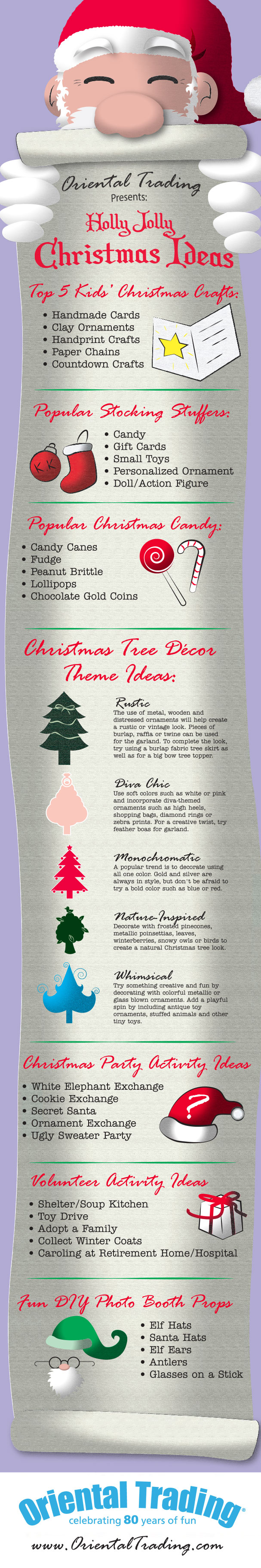 Christmas Party Ideas Infographic by OrientalTrading.com