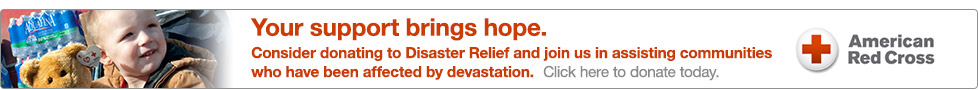 Your support brings help. Donate to the Red Cross Disaster Relief.